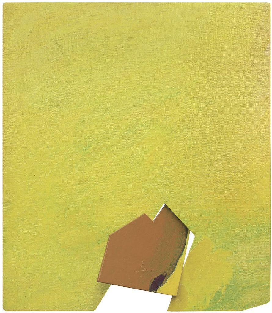Jan Berdyszak, Fragment jako całość radykalna XXIII, akryl, płótno naklejone na deskę, 1982-84